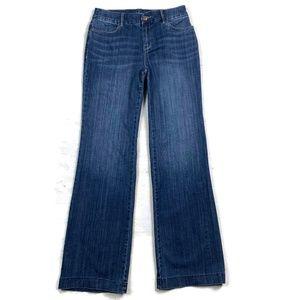 Chico's Trouser Jeans Dark Blue Wash 0 4